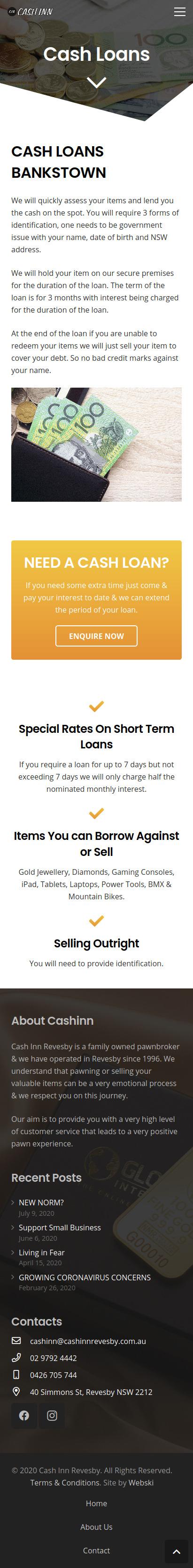 Cash Loan Web Design